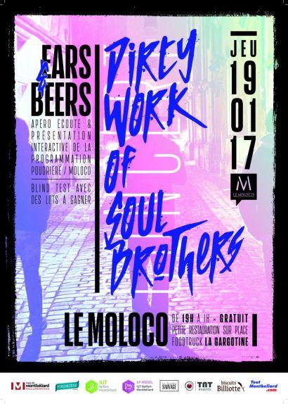 La licence pro MOSEL de l'IUT de Belfort-Montbéliard organise la soirée Ears & Beers pour Le Moloco et La Poudrière