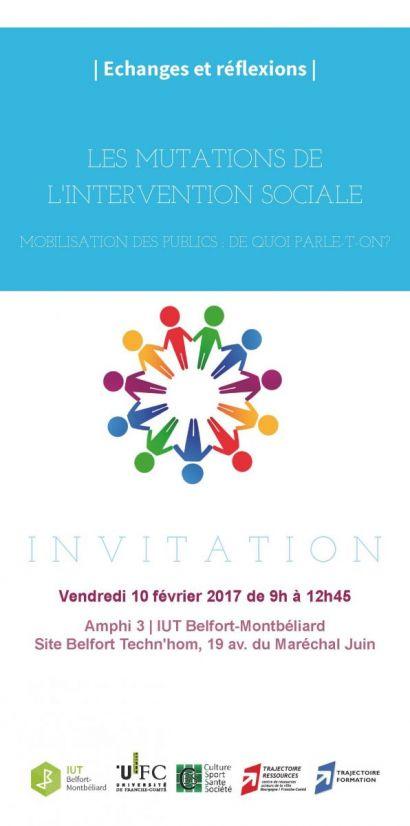 Echanges et réflexions sur les mutations de l'intervention sociale - IUT de Belfort-Montbéliard
