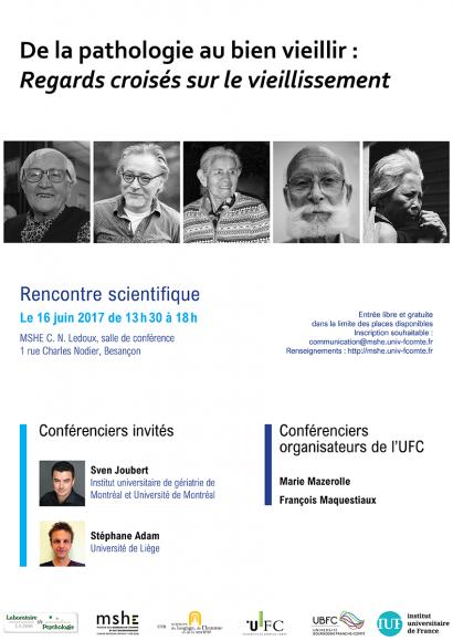 Affiche de la journée d'étude de la pathologie au bien vieillir
