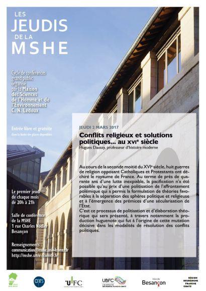 Affiche conférence H. Daussy, cycle Les jeudis de la MSHE