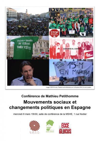 Affiche conférence M. Petithomme, ECCE GLOCUS