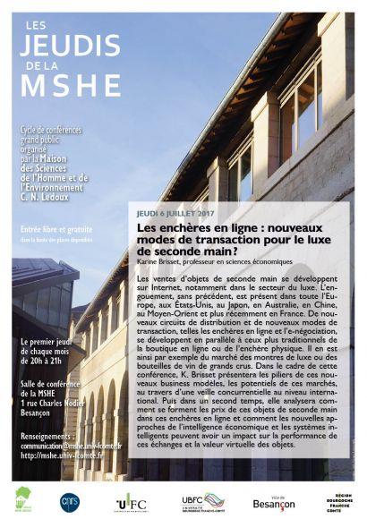 Affiche conférence K.. Brisset, cycle Les jeudis de la MSHE