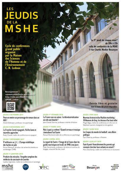 Affiche des Jeudis de la MSHE 17-18