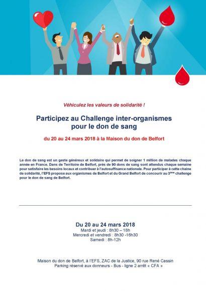 4ème challenge inter-organismes de l'EFS