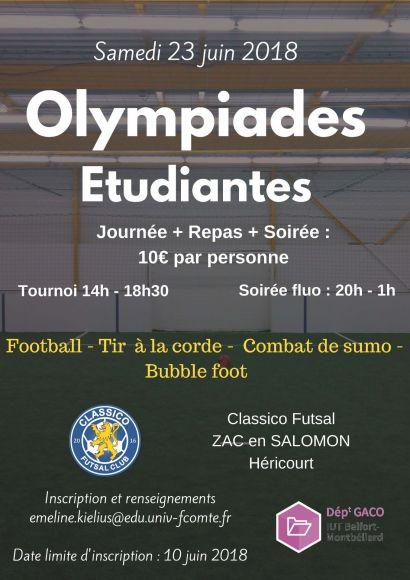 Olympiades étudiantes : journée sportive