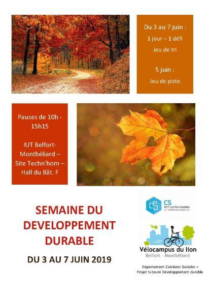 Semaine du développement durable à l'IUT de Belfort-Montbéliard