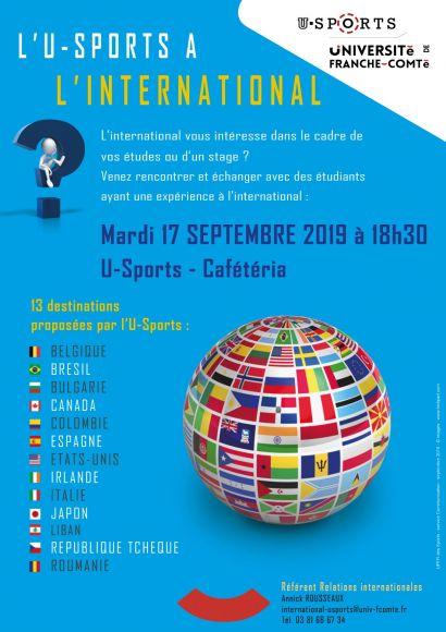 Affiche apéro-échange international