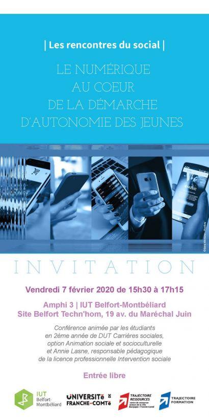 Rencontres du social à l'IUT de Belfort-Montbéliard : 3ème rendez-vous