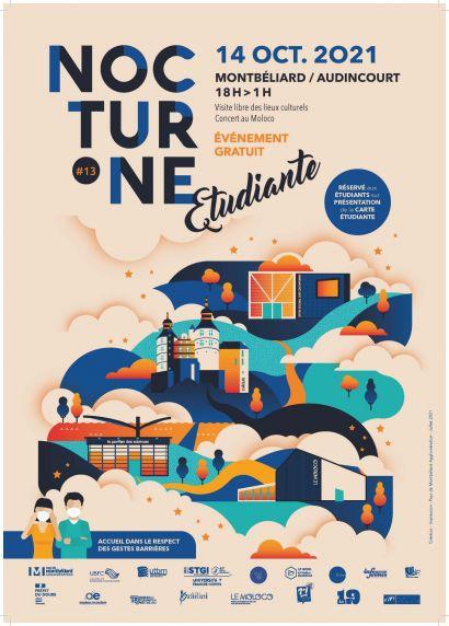 Nocturne étudiants à Montbéliard le 14 octobre 2021