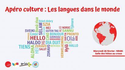 Apéro culture : Les langues dans le monde