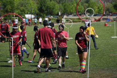 Match de quidditch à l'université Stanford