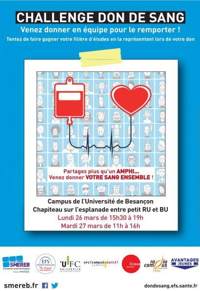 Affiche challenge don du sang