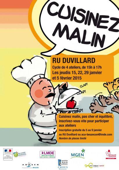 Cuisinez malin: 4 ateliers au restaurant universitaire Duvillard de Belfort