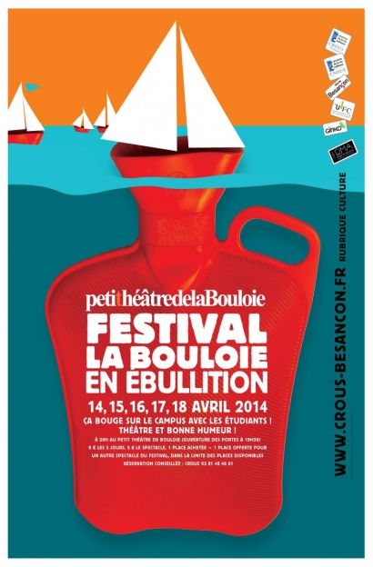 Affiche du festival La Bouloie en ébullition