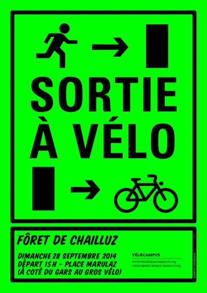 Affiche de la sortie à vélo
