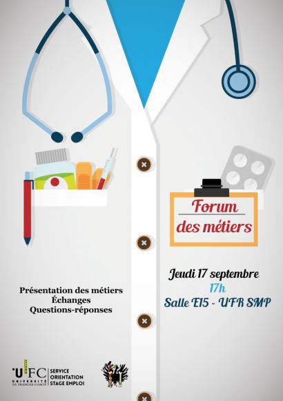 Affiche présentant le forum santé organisé par la Boudu