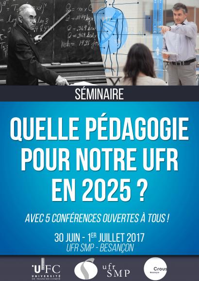 Affiche du séminaire de pédagogie de l'UFR SMP