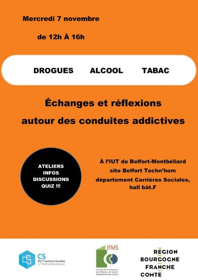 licence pro intervention sociale: actions prévention autour des conduites addictives