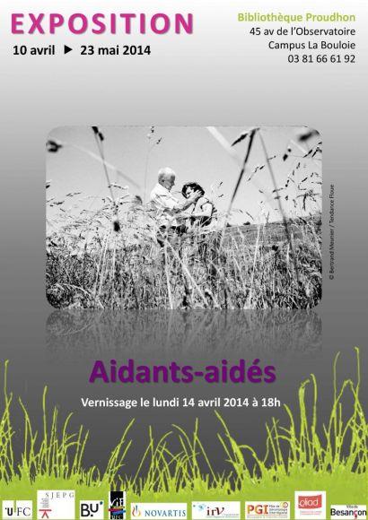 """Affiche de l'exposition """"Aidants-aidés"""""""