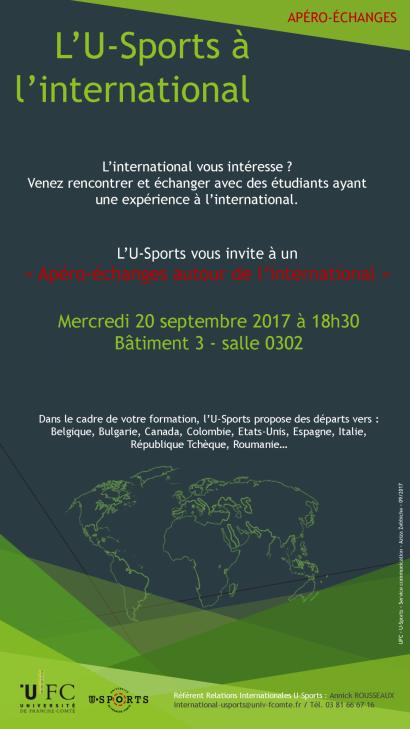 Affiche L'U-Sports à l'international