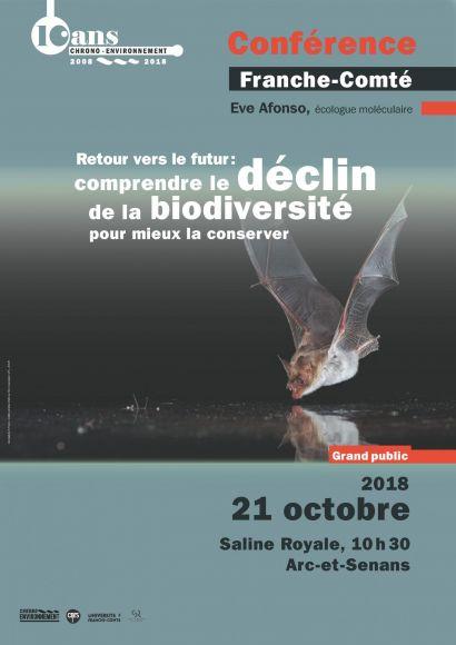 affiche conférence biodiversité Arc-et-Senans