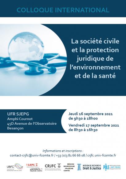 Colloque international La Société civile et la protection juridique de l'environnement et de la santé