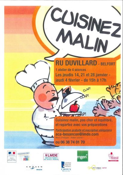 Ateliers Cuisinez malin 2016
