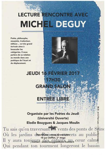 rencontre lecture Michel Deguy