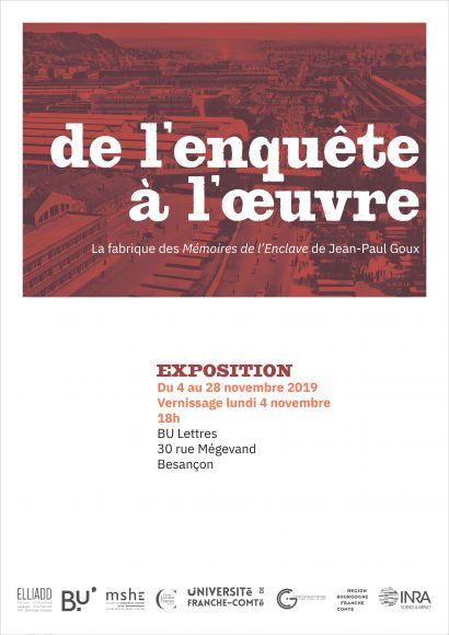 Exposition La frabrique des Mémoires de l'Enclave