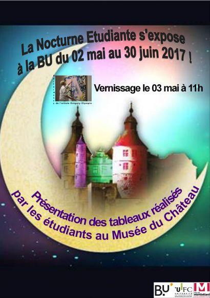 La Nocturne étudiante s'expose à la BU de Montbéliard
