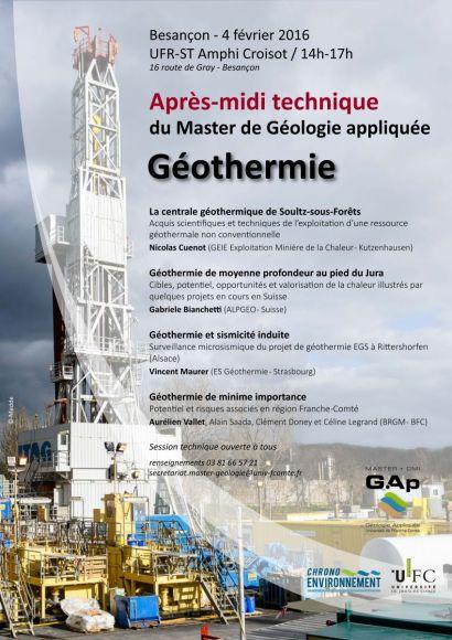 Affiche un après-midi sur la géothermie