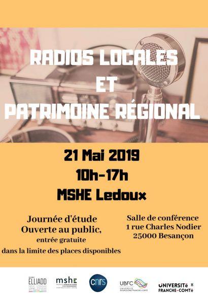 Affiiche Journée d'étude radios locales et patrimoine régional