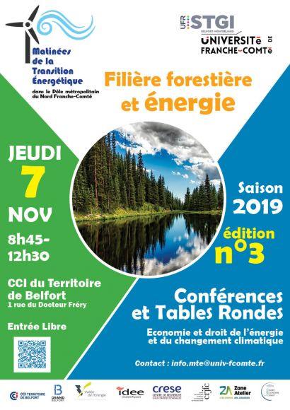 Matinée de la Transition Energétique N°3 Filière Forestière et Energie
