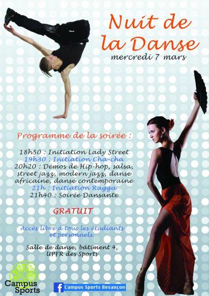 Affiche nuit de la danse