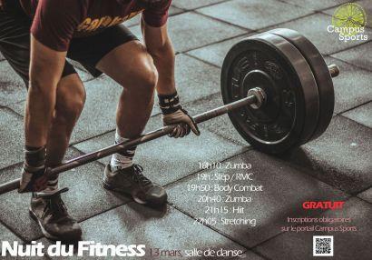 Affiche nuit du fitness