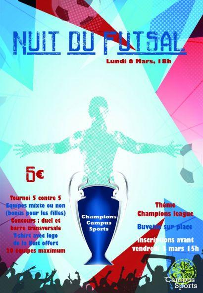 Affiche Nuit du Futsal