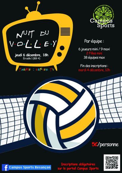 Affiche Nuit du volley