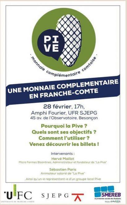 Affiche de la conférence sur la PIVE