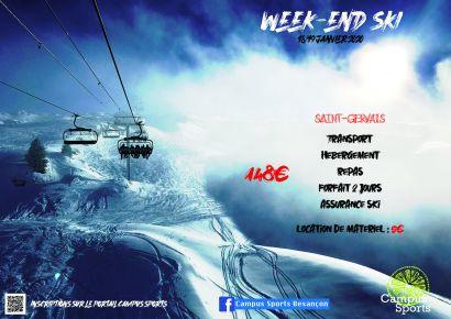 Affiche ski 18-19 janvier
