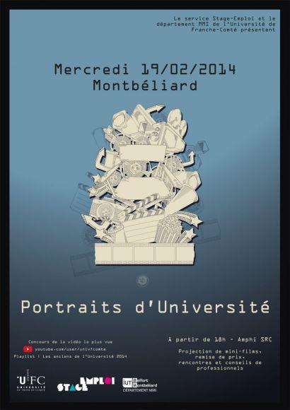 affiche portrait d'élèves