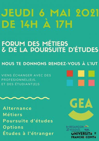 Affiche du forum des métiers