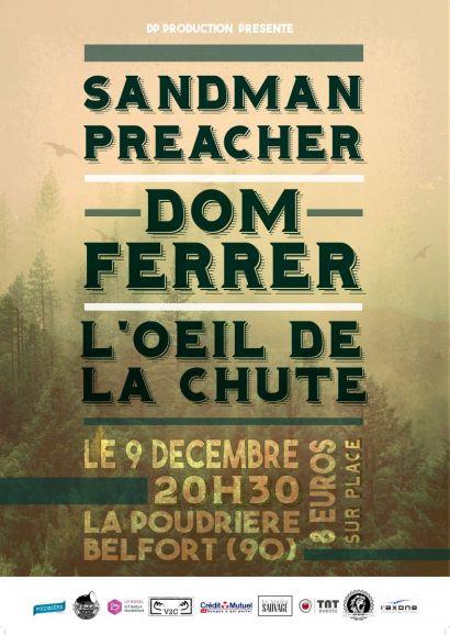 Sandman Preacher dévoilera son nouvel album lors d'une soirée organise le 9 décembre par des étudiants de l'IUT de Belfort-Montbéliard