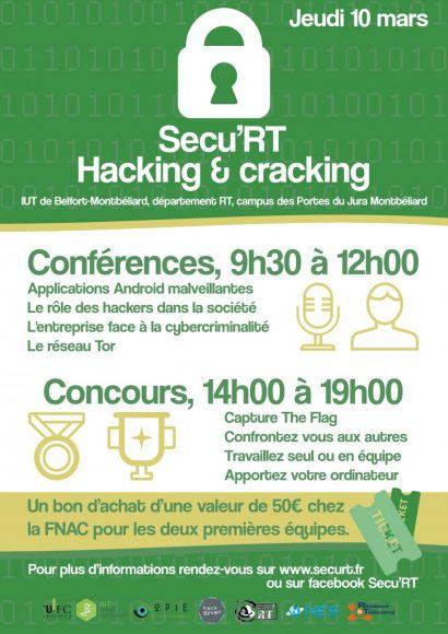 Sécu'RT: une journée au coeur de la sécurité informatique pour les étudiants du département Réseaux et Télécommunications de l'IUT de Belfort-Montbéliard