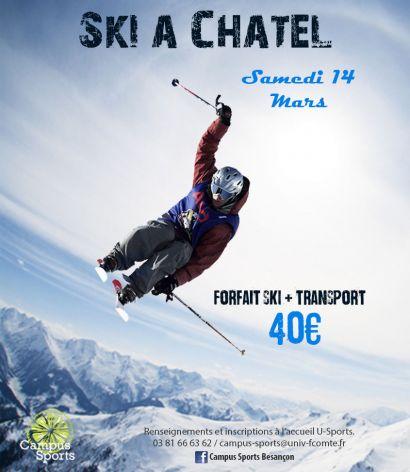 Affiche sortie ski alpin