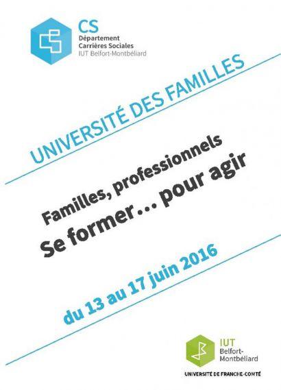 Université des familles : universitaires, professionnels et familles
