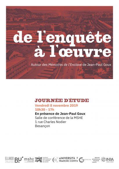 Journée d'étude Autour des Mémoires de l'Enclave de J-P. Goux