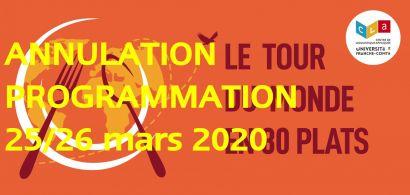 Annulation programmation Tour du monde 2020