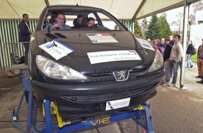 Simulateur d'accident de la route