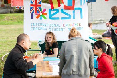 Stand d'ESN Besançon durant Bienvenue aux étudiants
