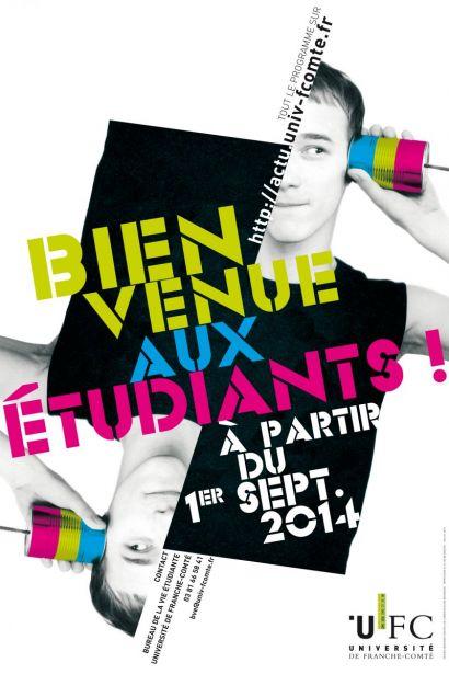Affiche de Bienvenue aux étudiants